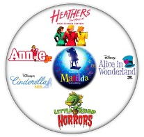 Heathers Matilda Annie Little Shop Horrors Alice Wonderland Cinderella Disney Nickelodeon